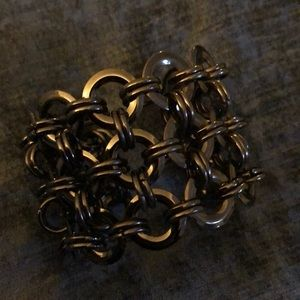 Jewelry - Grey/black metal cuff. Excellent condition